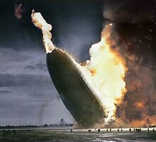 Colorized Hindenburg Disaster by farhad1371
