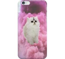 Pastel Goth Kitty, pastel pink. iPhone Case/Skin