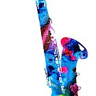 Colorful Saxophone 2 By Sharon Cummings by Sharon Cummings