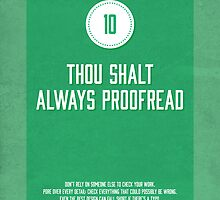 Commandment #10 of graphic design by janna barrett