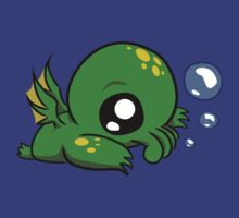 Baby Cthulhu Likes Bubbles by Bex Moss
