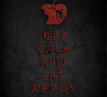 Keep Calm And Eat Apples  by Anime Pie