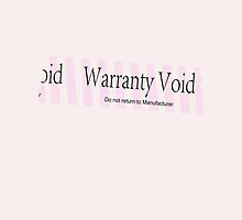 Warranty Void - Pink Ipad case by hotsleeper