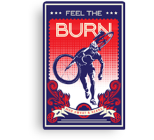 Feel the Burn retro cycling poster Canvas Print