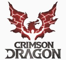 #cdb crimson dragon white logo t-shirt shirt tshirt by derogerdi8967