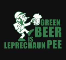 Green beer is leprechaum pee by monkeybrain