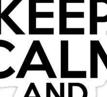 Keep Calm and wait for Santa Sticker