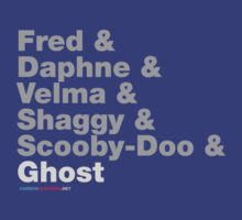 Fred & Daphne & Velam & Shaggy & Scooby Doo & Ghost by CarbonClothing