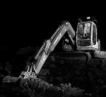 Digger at Night by fotohebden