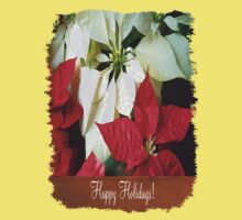Mixed Color Poinsettias 2 Happy Holidays S1F1 Kids Clothes
