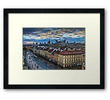 Warsaw City Skyline Framed Print