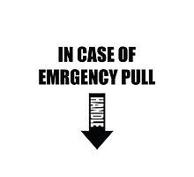 In case of emergency pull handle by El Castro Designs
