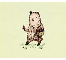 Apple Pickin' Bear Photographic Print