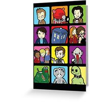 Doctor Squares Greeting Card