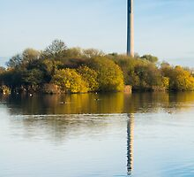 Autum Tower Reflected by Ralph Goldsmith