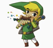 Link playing by Hyruler