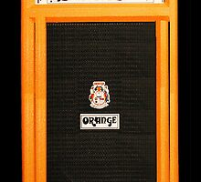 Orange Amp Phone Case by iArt Designs