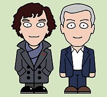 Sherlock and Lestrade (card) by redscharlach