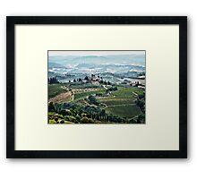 San Gimignano View Framed Print
