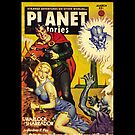Retro pulp science fiction comic cover - Planet Stories by jeastphoto