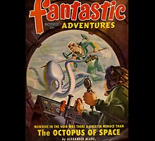 Retro Pulp Science Fiction comic cover  - Fantastic Adventures by jeastphoto