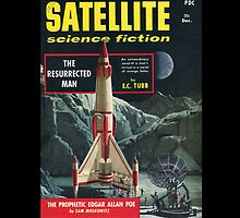 Retro Pulp Science Fiction comic cover  - Satellite Sci-fi by jeastphoto