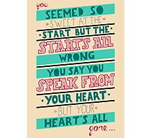Blink 182 - Hearts all gone Photographic Print
