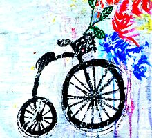 bike with flowers by songsforseba