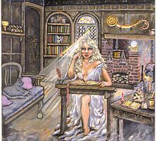 Alianora in her Study by kaffekat