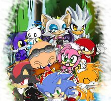 Sonic and friends chibi by Goombasmasher1