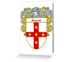 Adams Coat of Arms/Family Crest Greeting Card