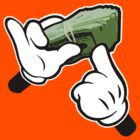 Make It Rain Cartoon Hands (Ghetto Fat Stack) by robotface