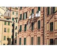 The lines and shadows of the Italian Riviera Photographic Print