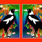 Stained Glass Magpies by Graham Colton