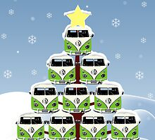 VW Camper Christmas Happy Holidays by splashgti