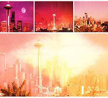 Shades of Red Space Needle by stine1