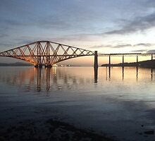 Forth Rail Bridge, November dawn.  by LBMcNicoll