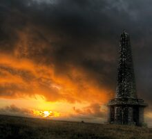 Fiery Sky over Stoodley Pike by fotohebden
