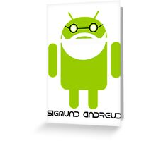 Sigmund Freud Android Greeting Card