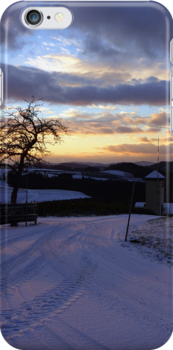 Amazing winter wonderland sundown   landscape photography by Patrick Jobst