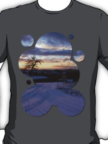 Amazing winter wonderland sundown | landscape photography T-Shirt