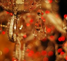 Crystal on red bokeh by TwistedtheClown
