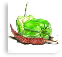 Capsicum & Chillies Canvas Print