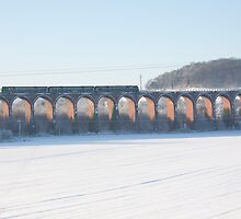 Viaduct in the snow by blueinfinity
