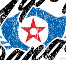 Gipsy Danger Distressed Logo in Black Sticker