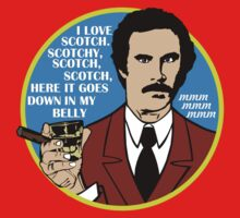 Ron Burgundy - I love scotch by kingUgo