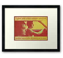 Drive - 70's style (poster/print) Framed Print