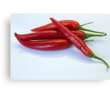 Red hot spicy peppers for you Canvas Print