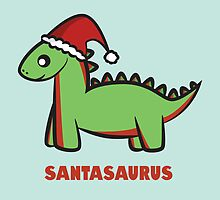 Santasaurus  by Lauramazing