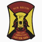 NCR 1st Recon Sticker & Tshirt by clintGH